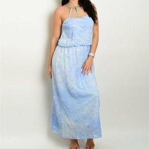 Dresses & Skirts - Blue White Plus Size Dress